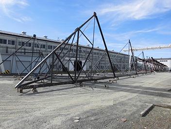 川越工場主要機械02(仮組写真)